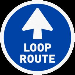 Vloersticker - Looproute vloersticker, vloermarkering, looproute, loop, route