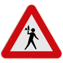 Verkeersbord SB250 - Overstekende ober