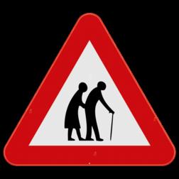 Verkeersbord SB250 - Overstekende ouderen
