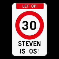 Verkeersbord - 30 - OS