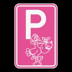 Parkeerbord - Geboorte - Meisje