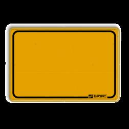 Omleidingsbord WIU geel - met logo in het kader