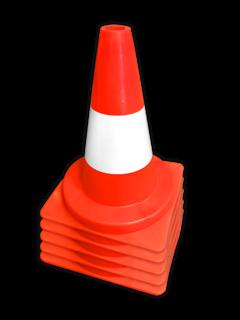 Afzetkegel PVC 300mm - oranje/wit pion, pionnen, kegels, pilon, oranje, hoedje, pylon, kegel, afzet, verkeer
