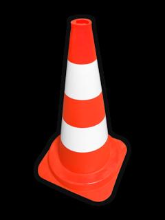 Afzetkegel PVC 500mm - oranje/wit pion, pionnen, kegels, pilon, oranje, hoedje, pylon, pylonnen