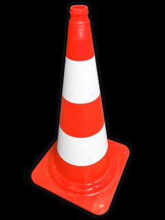 Afzetkegel PVC 750mm met grijpnok - oranje/wit pion, pionnen, kegels, pilon, oranje, hoedje, afzet, verkeer, pylon, kegel