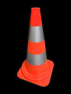 Afzetkegel 500mm - oranje/wit reflecterend pion, pionnen, kegels, pilon, oranje, hoedje, afzetkegel, verkeerskegel, pylon, kegels