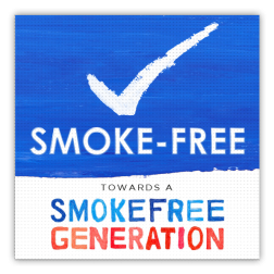 Vloersticker anti-slip - Smoke-free Generation vloersticker, rookvrij, rookvrije, generatie, roken, smoke, free, generation