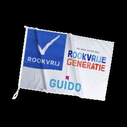 Gevel-/mastvlag + logo - Rookvrije Generatie vlag, mastvlag, rookvrije generatie, rookvrij