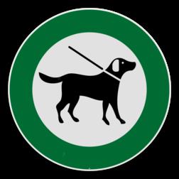Toegelaten - Honden aan de lijn