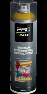 Industrielak geel - 500 ml - hoogglans verfspuitbus, metaallak, industrielak, industriële coating, blauw