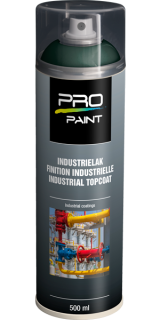 Industrielak groen - 500 ml - hoogglans verfspuitbus, metaallak, industrielak, industriële coating, blauw