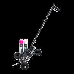 Lijnentrekker 3-wiel - voor verfspuitbussen 500 of 600 en 750 ml markeringspistool, markeringsstick, markeringswagen, lijnentrekker