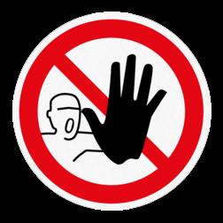 Vloersticker - Verboden toegang vloersticker, verboden, toegang, onbevoegden, geen, no, acces,