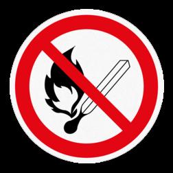Vloersticker - Roken en open vuur verboden vloersticker, verboden, roken, verboden, vuur, anti-slip