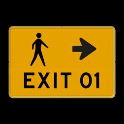 Tekstbord - voetgangers route - evenemet Tekstbord, WIU bord, tijdelijke verkeersmaatregelen, werk langs de weg, omleidingsborden, tijdelijk bord, werk in uitvoering, 3 regelig bord