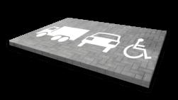 Wegmarkering - symbolen en pictogrammen Wegmarkering, vloermarkering, parkeervak, belijning, parkeerplaats, parkeerterrein, wegenverf, symbolen, pictogrammen