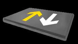 Vloermarkering - pijlen - wegenverf Wegmarkering, vloermarkering, parkeervak, belijning, parkeerplaats, parkeerterrein, wegenverf, pijlen, pijlverwijzing