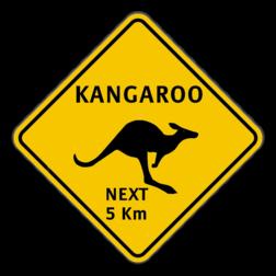 Verkeersbord Australië - Kangaroo