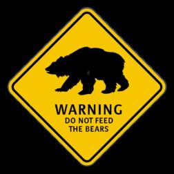 Verkeersbord Australië - Bear