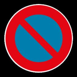Vloersticker - Verkeersteken België vloersticker, verboden, toegang, onbevoegden, geen, no, acces,