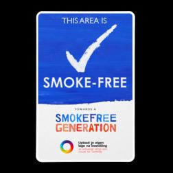 Informatiebord + eigen logo - Smoke-free Generation Niet roken, schoolplein