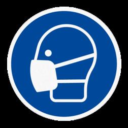 Vloersticker - Mondkapje/masker dragen verplicht vloersticker, afstand, houden, meter, 150, 1500, 1.5,