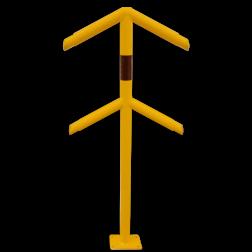 Veiligheidsrailing - Rond - Hoekstuk Beugel, Aanrijdbeveiliging, Magazijn, Beveiliging, Wanden, Muren, Trappen, Steun, Steuning, Ondersteuning