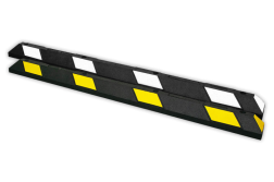 Parkeerstop rubber 1800x150x100mm - reflecterend geel of wit varkensrug, parkeerplaatsstopper, drempel, biggerug, biggenruggen