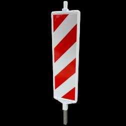 Baken Sb250 Ia1+Ib1 rood wit (dubbelzijdig reflecterend klasse 3) geledebaak, baken, schild , afzetmateriaal, baakschild, geleidebaken