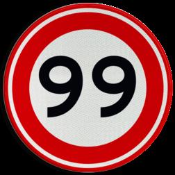 Product Maximumsnelheid Verkeersteken A01-00 vrij invoerbaar - klasse 3