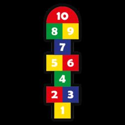 Thermoplast markering - Hinkelpad standaard - 2820x800mm Wegmarkering, thermoplast, premark, schoolterrein, schoolplein, playmark, topmark, speelterrein, speelzaal, hinkelpad, hinkelbaan, spel, spelen