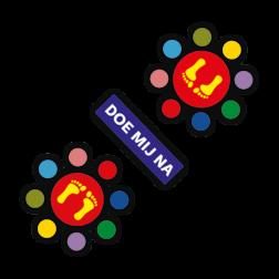Thermoplast markering - Doe mij na spel - 3000x1200mm Wegmarkering, thermoplast, premark, schoolterrein, schoolplein, playmark, topmark, speelterrein, speelzaal, hinkelpad, hinkelbaan, spel, spelen