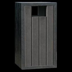 Afvalbak - zwart - Jupiter govaplast, afvalbak, prullenbak, kunststof, gerecycled, afval, prul