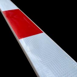 Bareelprofiel SB250 - 2500mm - rood/wit verzwaring, afzetmateriaal, tijdelijke plaatsing, baakvoet,