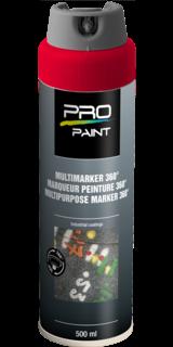 Multimarker fluorescerend rood - 360 graden spuitkop - 500 ml markeringsverf, markeerspray, multimarker, 360, graden, fluorescerend, geel, fluor, spuitbus, spray