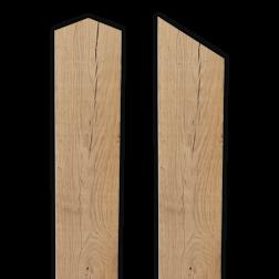 Houten paal geschaafd - 1500x100x100mm - Europees eiken Paal, Hout, 1500x100x100mm, diamantkop, schuin afgezaagde kop, Europees, eiken, houten