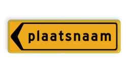 Omleidingsbord - T104l - Plaatsnaam - Werk in uitvoering