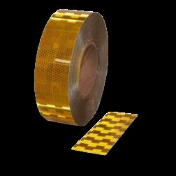 Contourmarkering geel - 50mm - op rol 12,5 of 50 meter Contour, Contourmarkering, Reflecterend, rol, Conspicuity, Tape, voertuigmarkering, geel