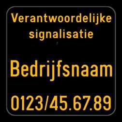 Werfbord - Verantwoordelijke signalisatie