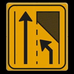 Omleidingsbord WIU T32-2l geel/zwart Tekstbord, WIU bord, tijdelijke verkeersmaatregelen, werk langs de weg, omleidingsborden, tijdelijk bord, werk in uitvoering, 3 regelig bord