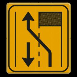 Omleidingsbord WIU T31-2l geel/zwart Tekstbord, WIU bord, tijdelijke verkeersmaatregelen, werk langs de weg, omleidingsborden, tijdelijk bord, werk in uitvoering, 3 regelig bord