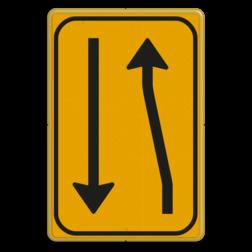 Omleidingsbord WIU T03-2l geel/zwart Tekstbord, WIU bord, tijdelijke verkeersmaatregelen, werk langs de weg, omleidingsborden, tijdelijk bord, werk in uitvoering, 3 regelig bord