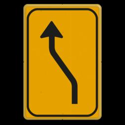 Omleidingsbord WIU T04-1l geel/zwart Tekstbord, WIU bord, tijdelijke verkeersmaatregelen, werk langs de weg, omleidingsborden, tijdelijk bord, werk in uitvoering, 3 regelig bord
