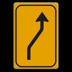 Omleidingsbord WIU T04-1r geel/zwart Tekstbord, WIU bord, tijdelijke verkeersmaatregelen, werk langs de weg, omleidingsborden, tijdelijk bord, werk in uitvoering, 3 regelig bord