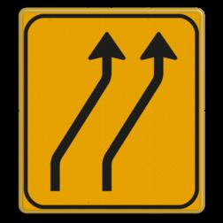 Omleidingsbord WIU T04-2r geel/zwart