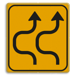 Omleidingsbord WIU T05-2l geel/zwart