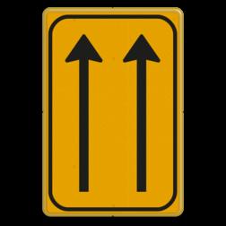 Omleidingsbord WIU L07-2-01t geel/zwart