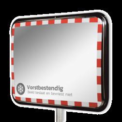 Anti-vries verkeersspiegel 1000x800mm RVS Jislon, verkeerspiegel, veiligheidspiegel, veiligheidsspiegel, buitenspiegel, anti, vries, winter