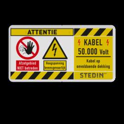 Product Algemene waarschuwing Veiligheidspictogram - Waarschuwing hoogspanning levernsgevaarlijk Algeem, waarschuwing, pas op