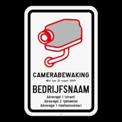 Camerabord CAMERABEWAKING wet van 21 maart 2017 (België model verplicht) Camerabord België - wet van 21 maart 2017